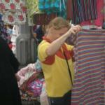 Besuch auf dem Stoffmarkt