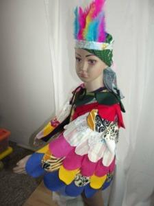 Ein Kostüm aus Stoffresten