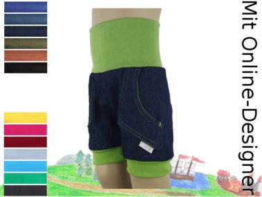 Kurze Hose - Jeans mit zwei Taschen- Individuelles Online-Design!
