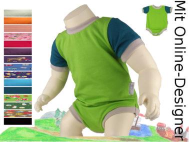 Kurzer Babybody in grün