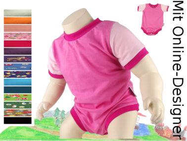 kurzer Body in pink