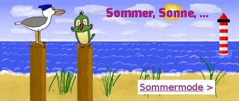 Sommer, Sonne, Sommermode in der Spatzenwerkstatt
