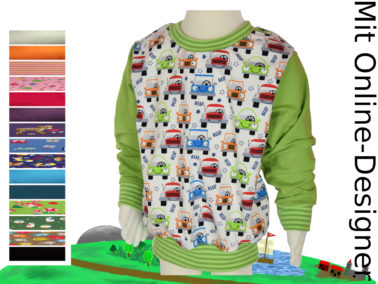 "Kinder- Pullover ""Autos"""