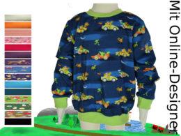 "Kinder- Pullover ""Autos & Tiere"""