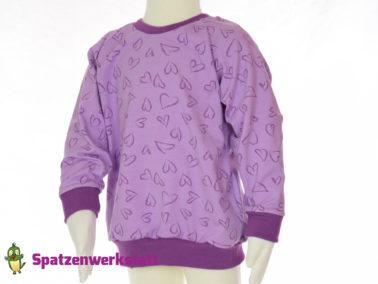 """Kinder- Pullover Raglanpullover """"Herzchen"""""""