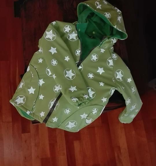 Selbstgenähte Jacke aus Softshell