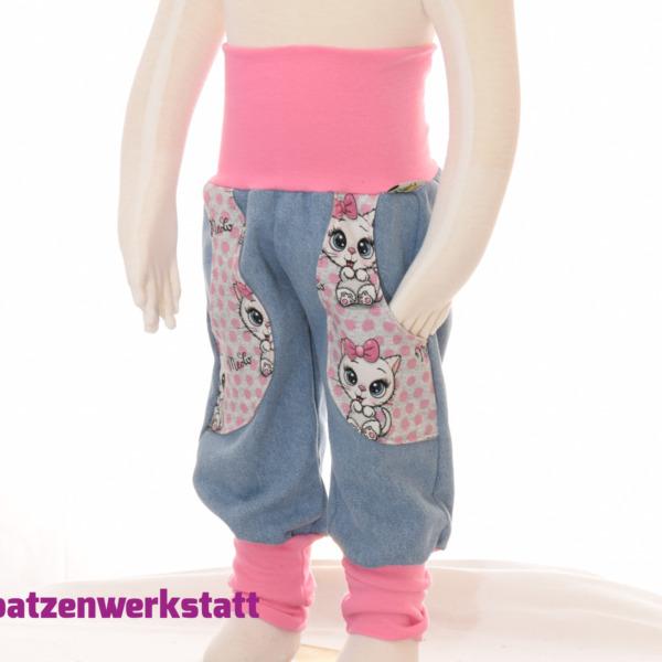 """Jeanshose mit Taschen """"Kätzchen"""""""