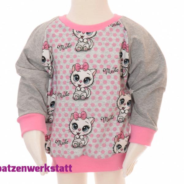 "Pullover ""Kätzchen"" - Jersey mit Raglanärmeln"