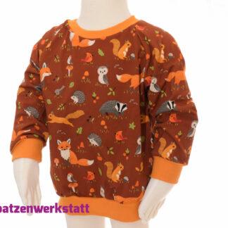 """Pullover """"Herbstiere"""" - Jersey mit Raglanärmeln"""