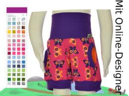 """Kurze Hose mit Taschen """"Schmetterlinge"""""""