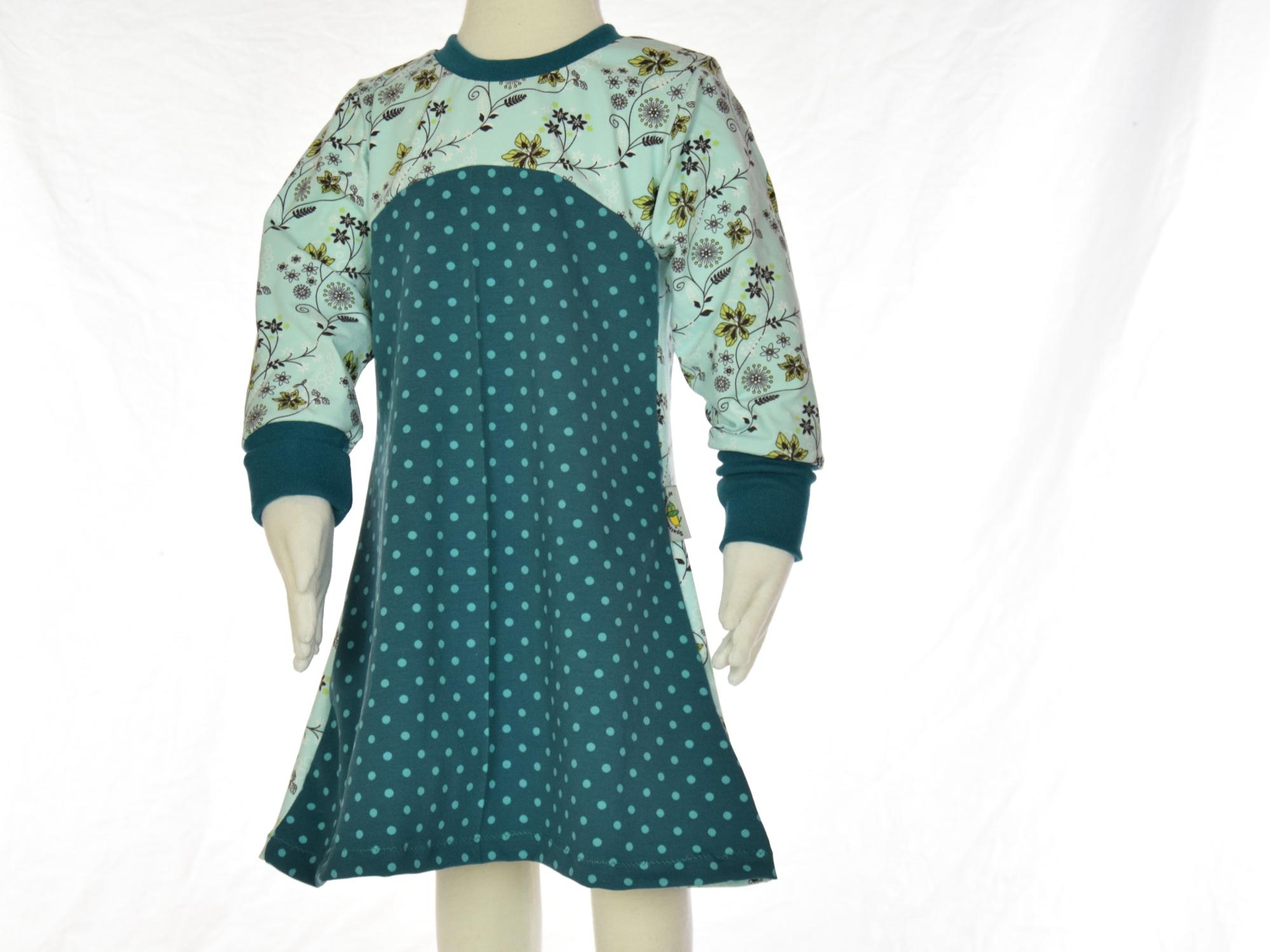 Kleid petrol mit blumen