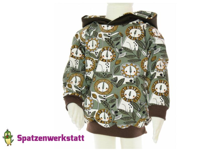 """Sweat- Hoodie /Kaputzenpullover """"Löwen"""""""