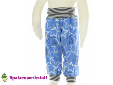 """Softshellhose """"jeansblau"""" mit Sternen"""