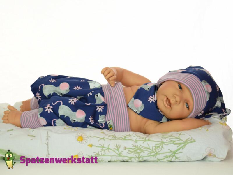 """Erstlings-Set Babyset """"Mäuschen blau"""""""