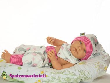 """Erstlings-Set Babyset """"Mäuschen weiß"""""""