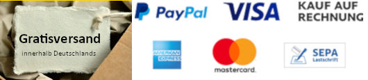 Zahlung und Gratisversand