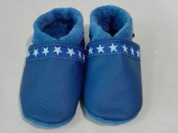 Krabbelschuhe Blau / Sterne