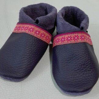 Schuhe Lila / Blumen