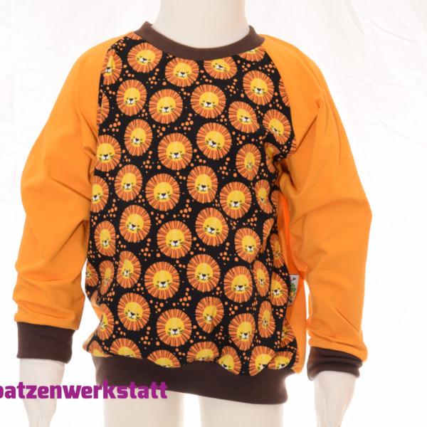 """Pullover """"Löwen"""" - Jersey mit Raglanärmeln"""
