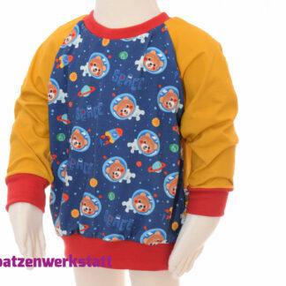 """Pullover """"Weltallbär"""" - Jersey mit Raglanärmeln"""