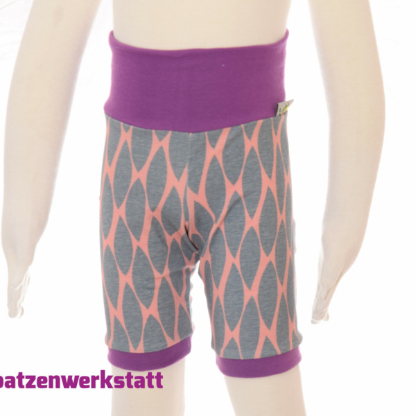 "Shorts ""Muster apricot grau"""