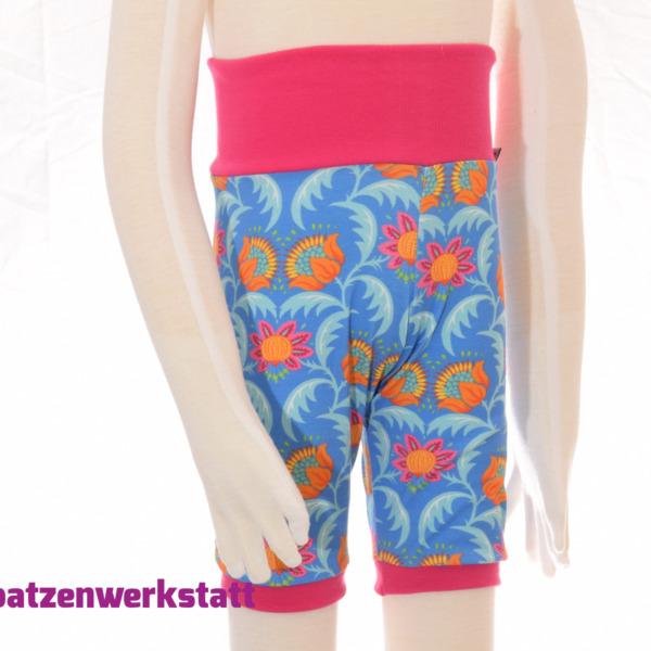 "Shorts ""Blumen blauorange"""