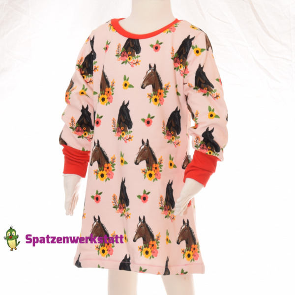 "Sweat Langarmkleid ""Pferde"""