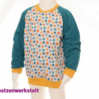 """Pullover """"Sterne"""" - Jersey mit Raglanärmeln"""