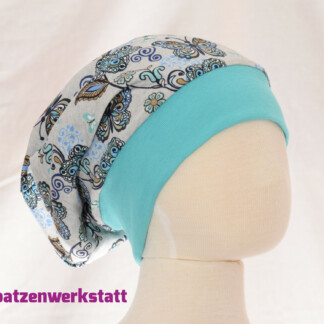 "Winterbeanie ""Schmetterlinge"" mit Fleece"