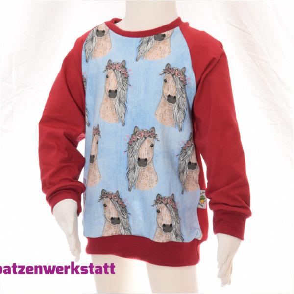 """Pullover """"Pferde"""" - Jersey mit Raglanärmeln"""