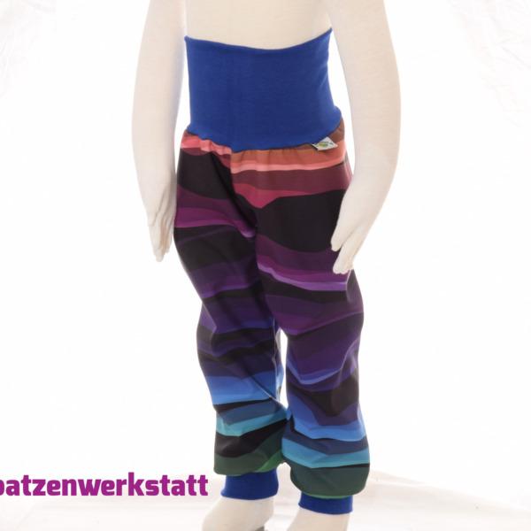 """Softshellhose """"Regenbogen Wellenstreifen"""""""