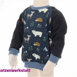 """Sweatpullover Raglanpullover """"Eisbär und Reh"""""""