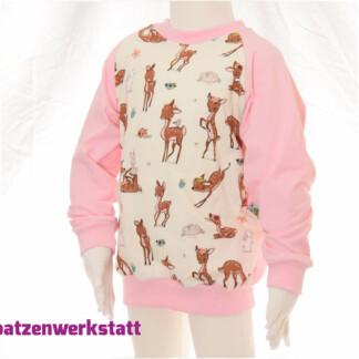 """Pullover """"Reh und Hase"""" - Jersey mit Raglanärmeln"""