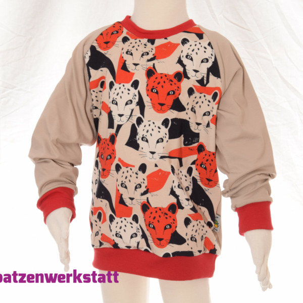 """Pullover """"Leopard"""" - Jersey mit Raglanärmeln"""