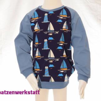 "Pullover ""Segelboot"" - Jersey mit Raglanärmeln"