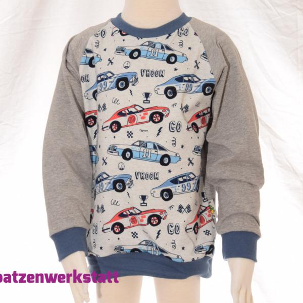 """Pullover """"Rennwagen"""" - Jersey mit Raglanärmeln"""