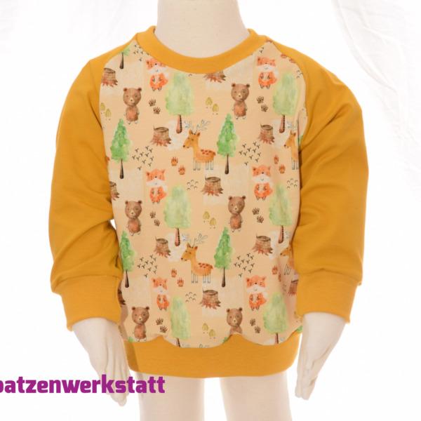 """Pullover """"Tiere im Wald"""" - Jersey mit Raglanärmeln"""