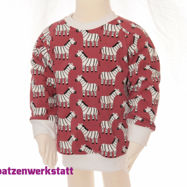 """Pullover """"Zebra"""" - Jersey mit Raglanärmeln"""