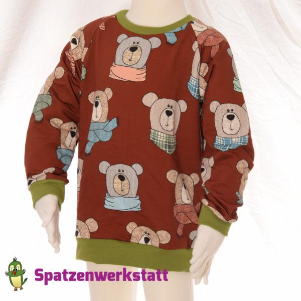 """Sweatpullover Raglanpullover """"Bär rotbraun"""""""