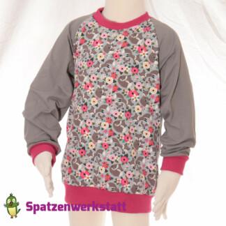 """Pullover """"Fuchs und Blume"""" - Jersey mit Raglanärmeln"""